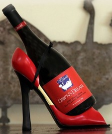 Red Heel Wine Holder
